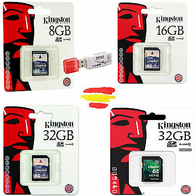 Tarjeta Memoria Kingston Sd Original Sdhc 4 8 16 32 4Gb 8Gb 16Gb 32Gb Gb Camara