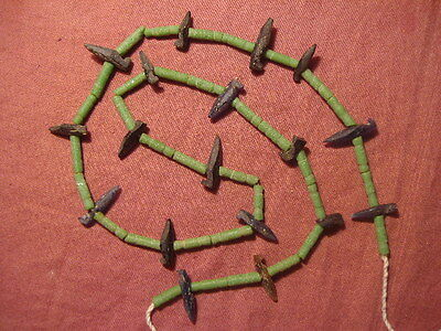 Ancient Roman Glass Fragments Beads Strand 200 BC #2949