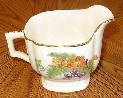 Vintage Limoges China Co Creamer Fern with Gold Trim Sebring Ohio American