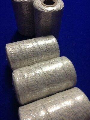 Bakers Twine Roll Silver & White Twine 2mm 100m  Wedding Favours  DIY Craft