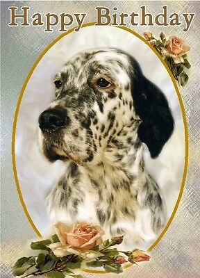 English Setter Dog A6 Textured Birthday Card BDENGLISHSETTER-2 by paws2print