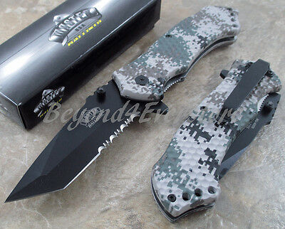 MASTERUSA  BALLISTIC Digital Camo Spring Assisted Camping Fishing Pocket Knife