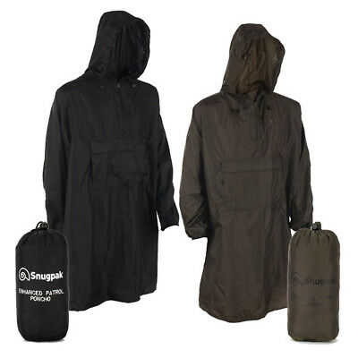 Snugpak Enhanced Patrol Poncho. Waterproof lightweight poncho. Green or Black