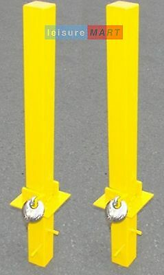 2 x Security parking posts, fold down heavy duty with padlock Maypole MP9739