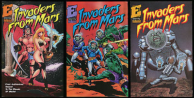 Invaders from Mars Book II Comic Set 1-2-3 Lot Movie Sequel Invasion UFO Attacks