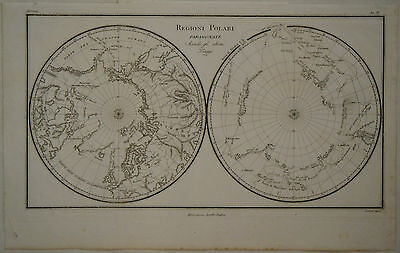 1820 Genuine Antique maps Regioni Polari Paragonate, polar views. Rossi