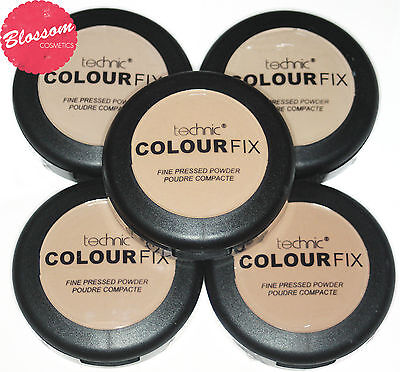 Technic COLOUR FIX Fine Pressed Powder Compact with sponge NEW&SEALED 12g