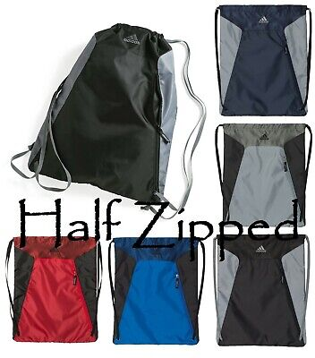 4be8161093 Adidas Golf Drawstring Backpack Gym Sack Cinch School Bag Sport Pack A312  15x19