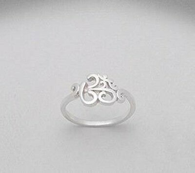 Om Aum Hindu Buddhist Yoga 925 Sterling Silver Ring - VARIOUS SIZES AVAILABLE