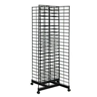 Gridmesh 4 Way Base stand wire grid mesh display, metal slatwall panel