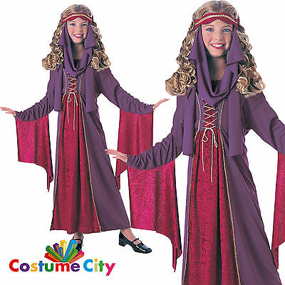 Childs Girls Gothic Medieval Princess Classic Fairytale Fancy Dress Costume