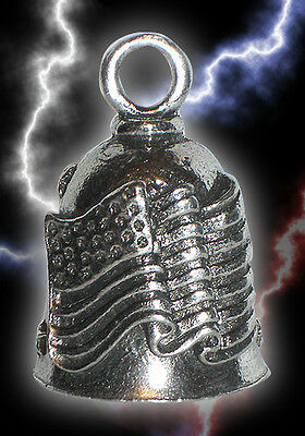 Old Glory Patriotic Pewter Bell Travel Accessory for Motorcycle Gift Bag Legend