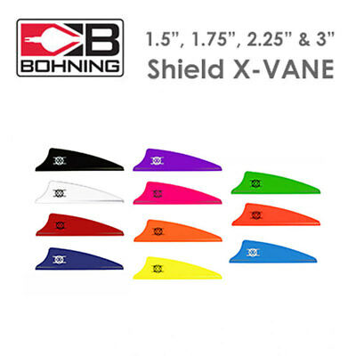 "BOHNING X-VANES Shield Fletchings (1.5"", 1.75"" & 2.25"",3"" and 3.5"" (PACK OF 12)"