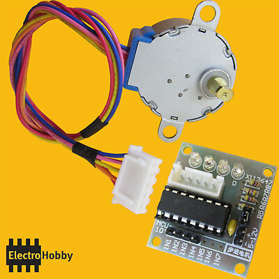 Motor paso a paso + Driver ULN2003 Stepper 5Vdc 28BYJ-48 Arduino by ElectroHobby