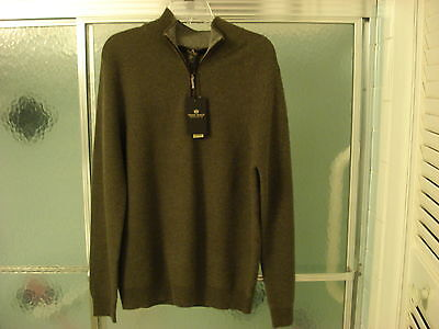 DANIEL BISHOP  $390  MENS  2-PLY CASHMERE SWEATER SIZE-MED   NWT
