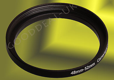 48mm to 52mm 48-52 mm 48-52mm 48mm-52mm Stepping Step Up Filter Ring Adapter UK