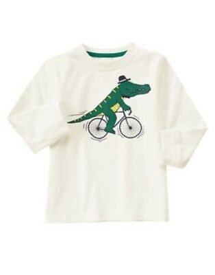 Gymboree Woodland Party Gator Riding Bicycle L/s Tee 12 18 24 2T 3T 4T Nwt