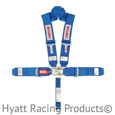 Simpson Racing Seat Belts V-Harness 29065 - Pull Down, Bolt In (All Colors)