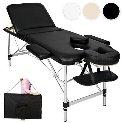Mobiele aluminium massagetafel massagebank massagebed 3 zones + draagtas