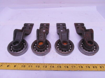 "FROST 7500273 4"" I-Beam Trolley Overhead Chain Conveyor 7-3/16 Drop Lot of 4pcs"