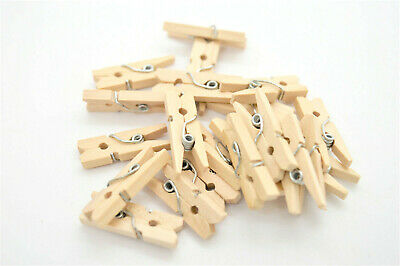 150 Natural Mini Wooden Pegs Clips For Craft Wood Small Peg  25mm