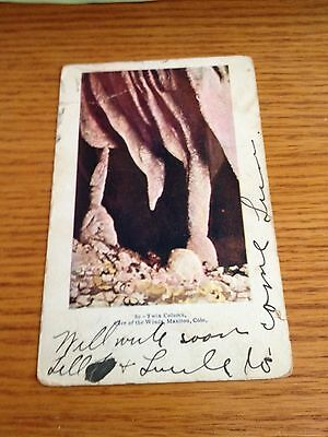Estate Vintage Post Card Real Photo Cave of the Winds Manitou Colorado Embossed