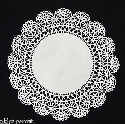 "50 - 10"" White CAMBRIDGE LACE PAPER DOILIES for Parties Weddings Invitations"