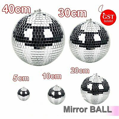 5/10/20/30/40cm Disco Mirror Ball DJ Light Silver Dance Party Stage Lighting Eve