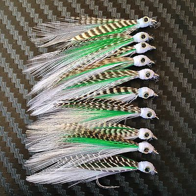 10x Anchovy Eyes Clouser Flies Fly Fishing Freshwater Shrimp Bugs Lure Lures