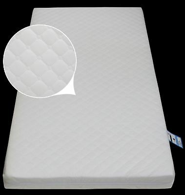 Baby Cot Junior Bed Foam MATTRESS with Quilted Breathable Zip Cover