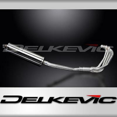 Suzuki GSX750F 97-03 Full 4-1 Exhaust System 450mm Stainless Steel Oval Silencer