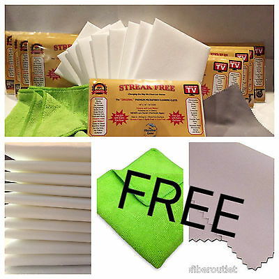 Streak Free White Microfiber MultiPurpose Cleaning Cloths As Seen On TV 12 InWrp
