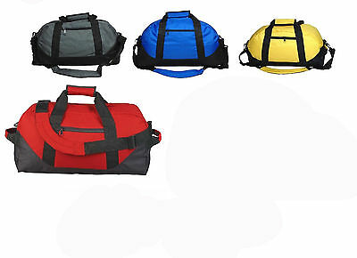 "18"" Duffle Bag Two-Tone Sports Gym Travel Luggage Large Bag Gym Bag, Men/Women"