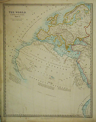 1847 Genuine Antique maps of the Ancient World. Two page set. SDUK.