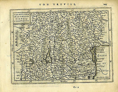 1651 Genuine Antique map Italy, Gulf Venice, Ferrara, Verone. Mercator/Jansson