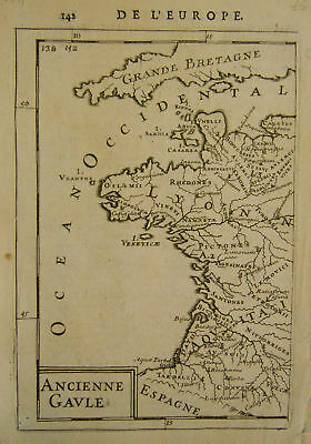 1683 Genuine Antique map of ancient France. A M Mallet