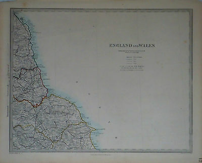 1847 Genuine Antique maps of England & Wales, 6 pc set . SDUK