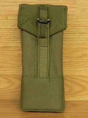 German Military Surplus Canvas-Uzi- Magazine/clip Ammo Pouch Green In Color Used