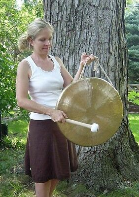"""20"""" White Gong and Mallet"""