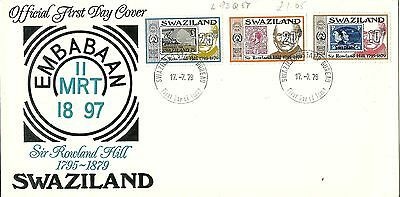 17/7/1979 Swaziland First Day Cover FDC - Sir Rowland Hill 1795 - 1879 #1
