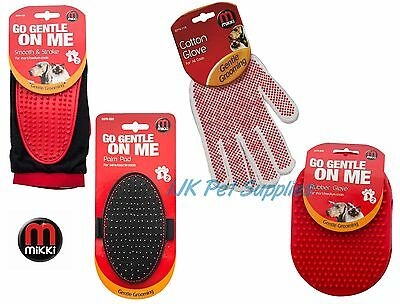 Mikki Dog Cat Gentle Grooming Glove Mitt Palm Pad