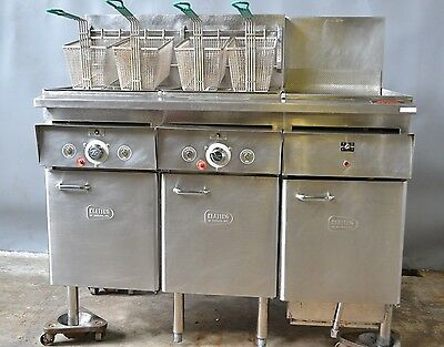 Used Keating 2Well Elec Fryer w/ dump station 14BB1M , Excellent Free Shipping!