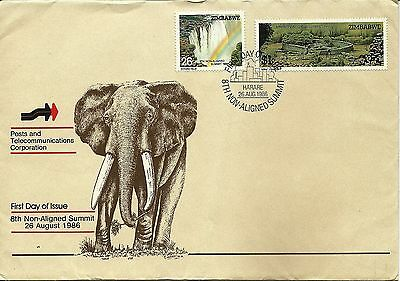 26/8/1986 Zimbabwe First Day Cover FDC -Posts and Telecommunications Corporation