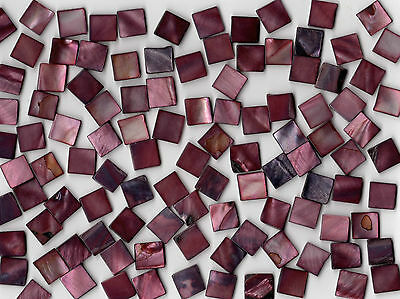 50g Burgundy Pearl Shell 1010 Square Mosaic Tile 10mmx10mmx2mm Shell Tile Border