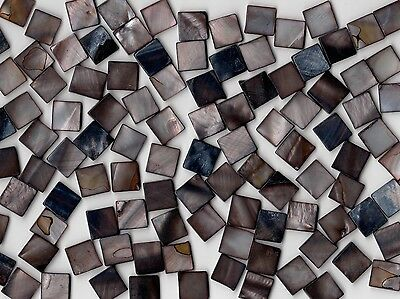 50g Dark Pearl Shell 1010 Square Mosaic Tile 10mmx10mmx2mm Shell Tile Border
