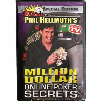 Phil Hellmuth's Million Dollar Online Poker Secrets Dvd **no Art/inserts