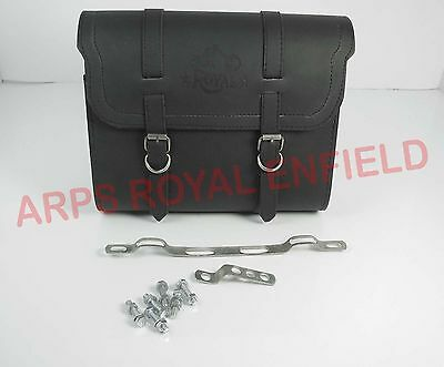 New Customized Royal Enfield Black  Color Saddle Bag With Fitting Strip