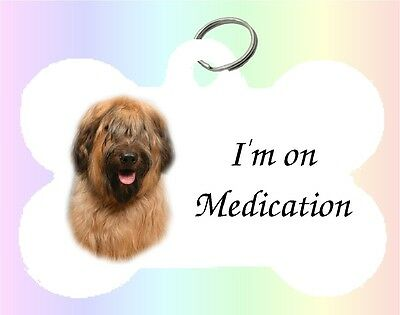 Briard Dog Puppy Dble Sided Personalised Pet ID Tag - M by paws2print