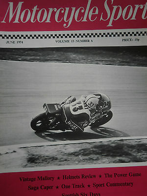 Motorcycle Sport Magazine 06/74 Paul Smart Onboard His Suzuki At Brands Cover
