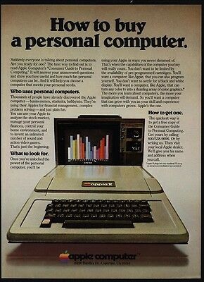 1978 APPLE II Personal Computer - How To Buy A Computer - STEVE JOBS  VINTAGE AD